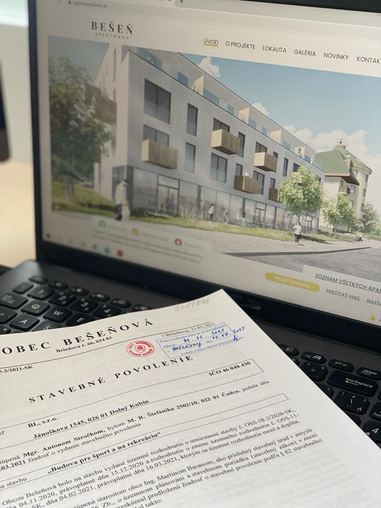 stavebné povolenie Bešeň